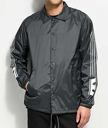 Supra Striped Charcoal Coaches Jacket