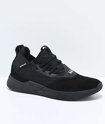 Supra Titanium All Black Suede Shoes