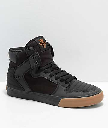 quality design 73d73 009ac Supra Vaider Black   Gum Nubuck Skate Shoes