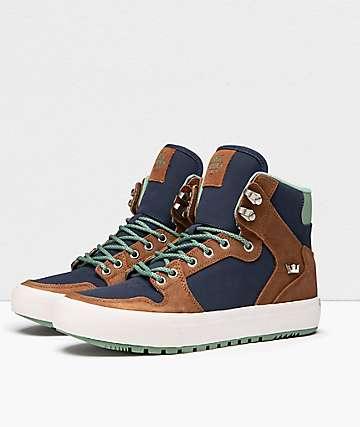 Supra Vaider CW Bone Brown & Navy Shoes