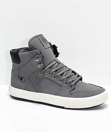 Supra Vaider CW Charcoal, White & Plaid Shoes