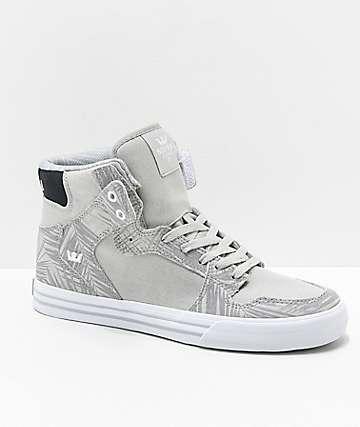 Supra Vaider Ferns zapatos skate de lienzo y ante gris