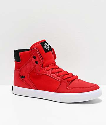 best sneakers dce31 64636 Supra Vaider Risk Red, Black   White Skate Shoes