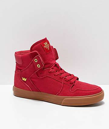 Supra Vaider Rose, Gold, & Gum Skate Shoes