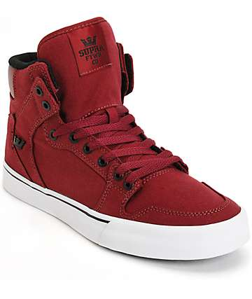 Supra Vaider zapatos de skate en color borgoño