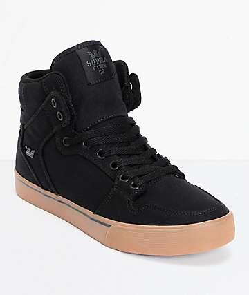 Supra Vaider zapatos de skate en lona negra y goma