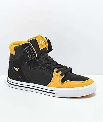 Supra Vaider zapatos de skate en negro, dorado y blanco