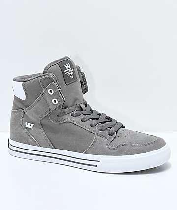 Supra Vaider zapatos skate ante y lienzo gris
