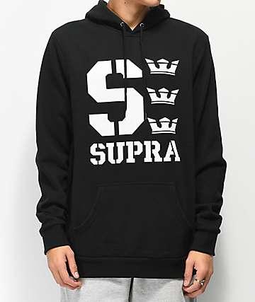 Supra Varsity Black Hoodie