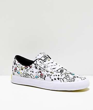 Supra x Mod Sun Cobalt White Skate Shoes
