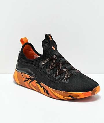 Supra x Rothco Factor zapatos de camuflaje naranja y negro