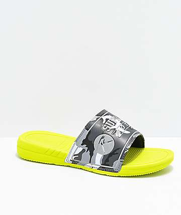 Supra x Rothco Locker sandalias en verde neón y camuflaje