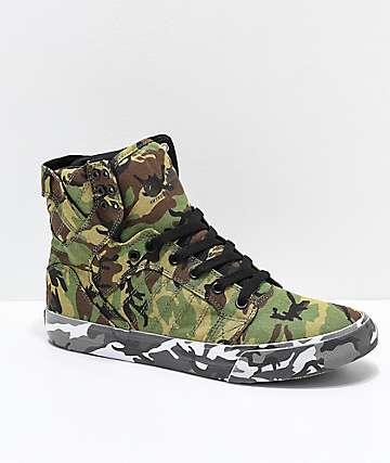 Supra x Rothco Skytop zapatos de skate de camuflaje verde