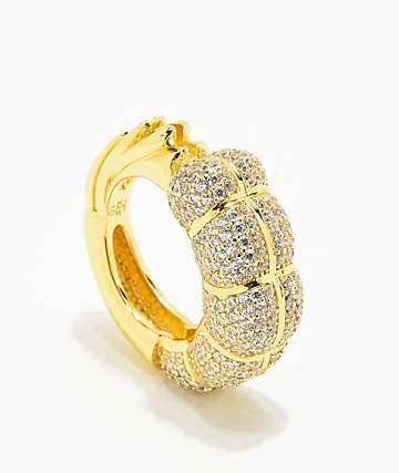 Supreme Patty x The Gold Gods Diamond Shrimp Gang Ring