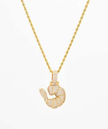 Supreme Patty x The Gold Gods Micro Diamond Shrimp Gang Pendant Chain