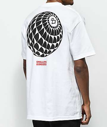 Swallows & Daggers 8-Ball Web White T-Shirt