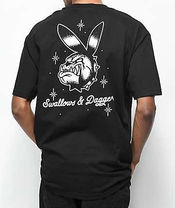 Swallows & Daggers Bulldog Bunny Black T-Shirt