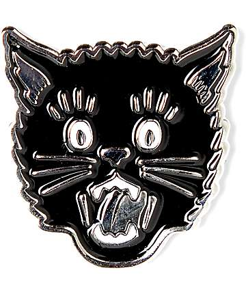Swallows & Daggers Cat Head Pin