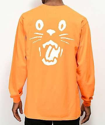 Swallows & Daggers Cat camiseta naranja de manga larga