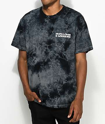 Swallows & Daggers Cross Grey Tie Dye T-Shirt