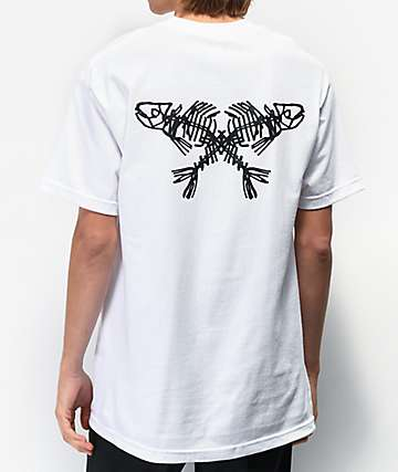 Swallows & Daggers Decay Fish White T-Shirt