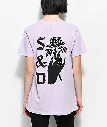 Swallows & Daggers Hand Picked Roses camiseta en morado pastel