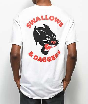 Swallows & Daggers Panther camiseta blanca