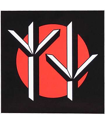 Swallows & Daggers Runes Black & Red Sticker
