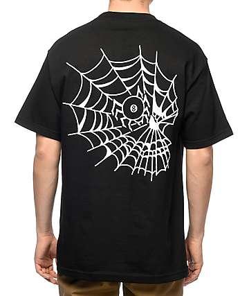 Swallows & Daggers Skull Web Black T-Shirt