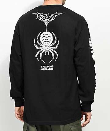 Swallows & Daggers Spider Black Long Sleeve T-Shirt