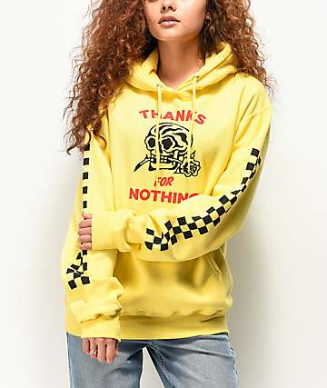 Swallows & Daggers Thanks For Nothing Yellow Hoodie