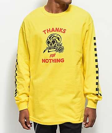 Swallows & Daggers Thanks For Nothing camiseta amarilla de manga larga
