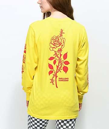 Swallows & Daggers Thorn Rose Yellow Long Sleeve T-Shirt
