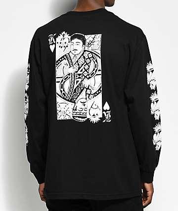 Swallows & Daggers x Rose Whittaker King camiseta negra de manga larga