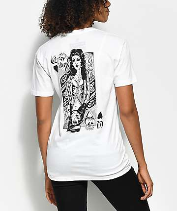 Swallows & Daggers x Rose Whittaker Queen camiseta blanca