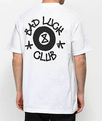 Swallows & Daggers Bad Luck Club White T-Shirt