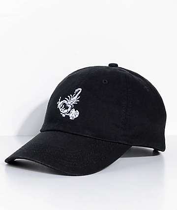 Swallows & Daggers Scorpion Rose Black Dad Hat