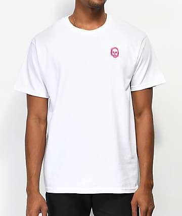 Sweatshirt By Earl Sweatshirt Embroidered White & Pink T-Shirt