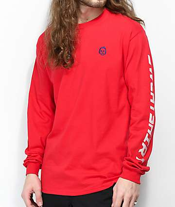 bebcdb324dc9fb Sweatshirt By Earl Sweatshirt Premium Red Long Sleeve T-Shirt
