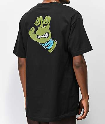 TMNT x Santa Cruz Leo Hand Black & Blue T-Shirt