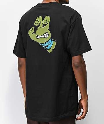 TMNT x Santa Cruz Leo Hand Black & Blue T-Shirt