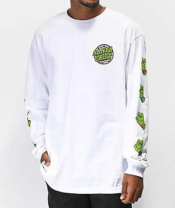 TMNT x Santa Cruz Sewer Dot White Long Sleeve T-Shirt