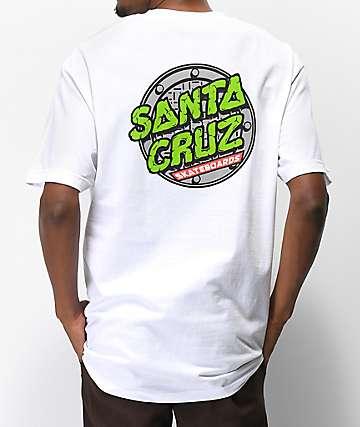 TMNT x Santa Cruz Sewer Dot camiseta blanca