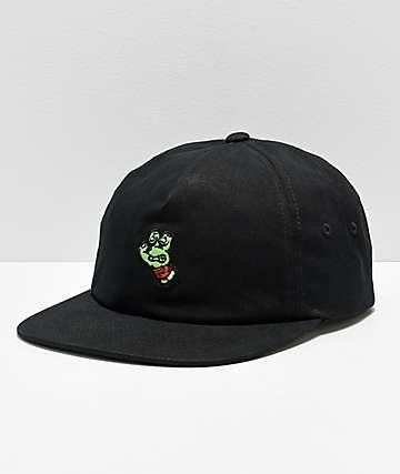 TMNT x Santa Cruz Turtle Hand Black Snapback Hat