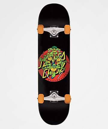 "TMNT x Santa Cruz Turtle Power 7.75"" Skateboard Complete"
