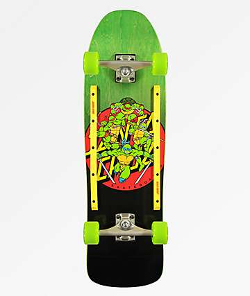 "TMNT x Santa Cruz Turtle Power 9.3"" Skateboard Complete"