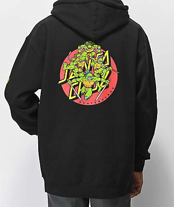 TMNT x Santa Cruz Turtle Power Black Hoodie