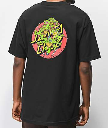 TMNT x Santa Cruz Turtle Power Black T-Shirt