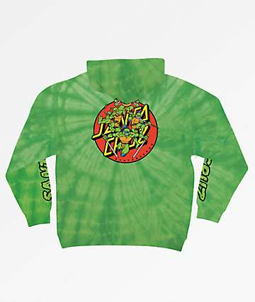 TMNT x Santa Cruz Turtle Power Green Hoodie