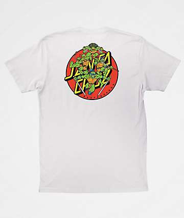 TMNT x Santa Cruz Turtle Power White T-Shirt